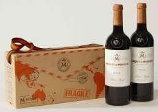 Sarkanvīns 2 Marqués de Murrieta  en caja de cartón